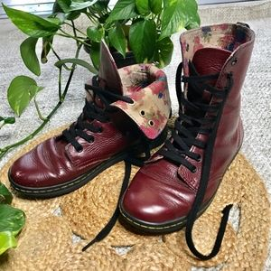 Doc Marten boots Red Strafford Lace Up Combat
